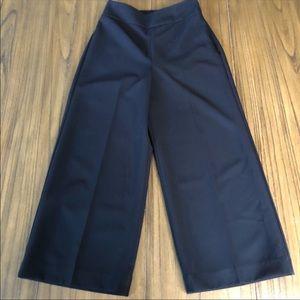 Express high rise wide leg cropped dress pants
